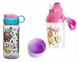 SHOPKINS  GIRLS'  WATER BOTTLE AND ROCK N SIP CANTEEN