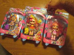 HAND ! SHOPKINS SHOPPIES WORLD VACATION SET DOLLS MEXICO + U