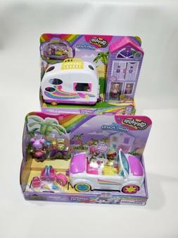 Shopkins HAPPY PLACES Rainbow Beach NEW CONVERTIBLE & CAMPER