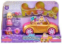 Shopkins Happy Places Royal Trends Convertible Car Playset,