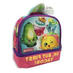 Shopkins Insulated Lunch Box But First Tacos 2 Compartment