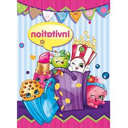 SHOPKINS INVITATIONS  ~ Birthday Party Supplies Stationery C