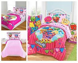 Shopkins Kids 5 Piece Bed in a Bag Full Size Bedding Set - R