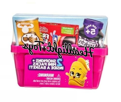 1 Basket REAL 2 Shopkins Packs Shopping