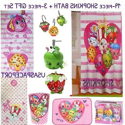 22 piece shopkins complete bath set shower