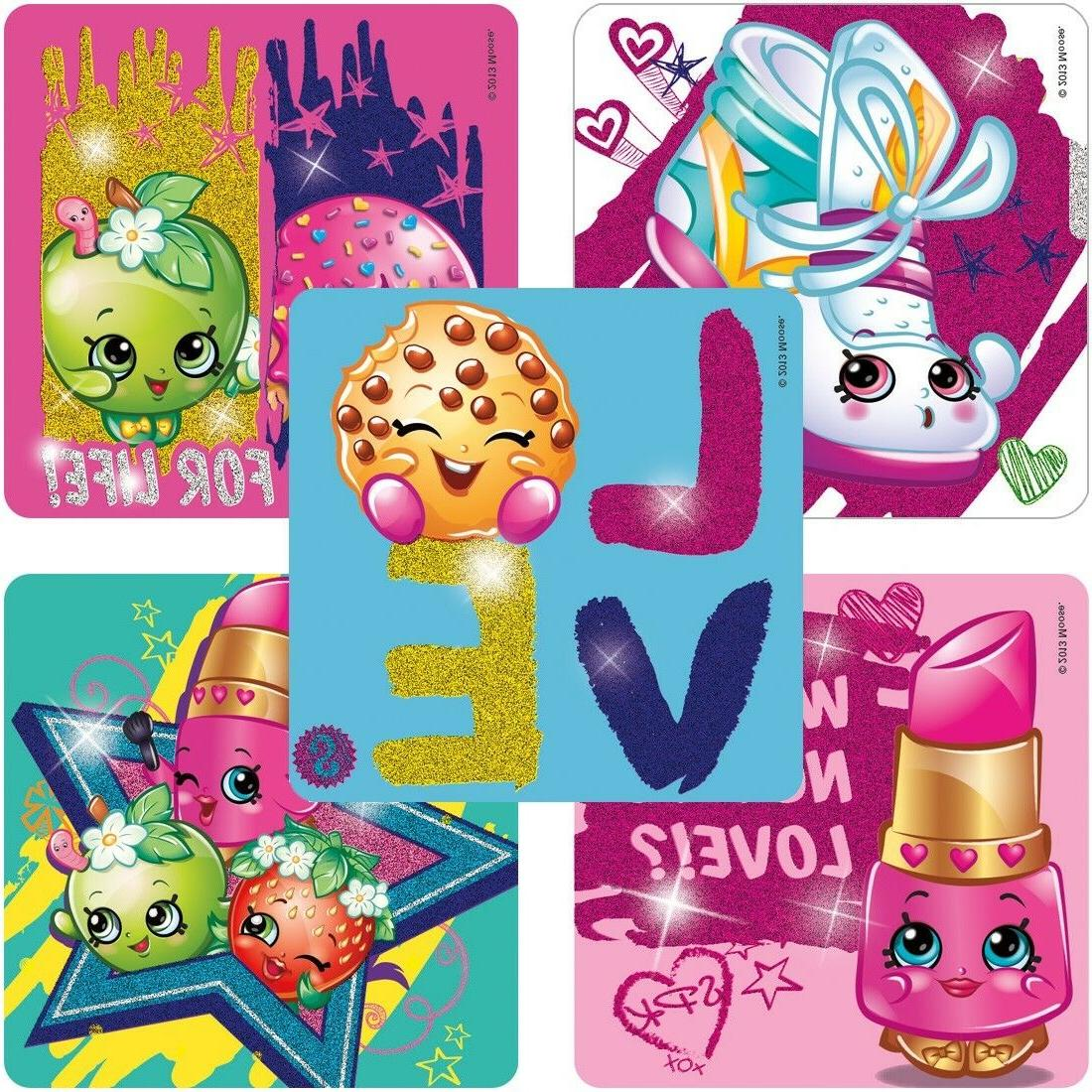 25 shopkins glitter stickers party favors supplies