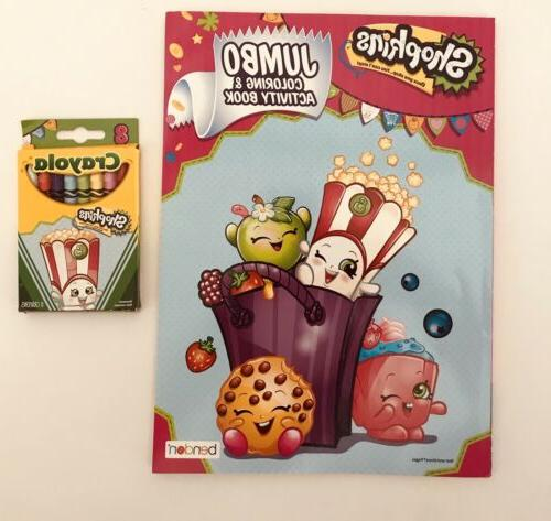 Shopkins Coloring & Activity Book with Crayons