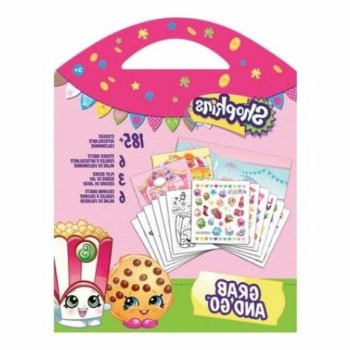 Shopkins Grab and Go Sticker Book - Shopkins Sticker and Act