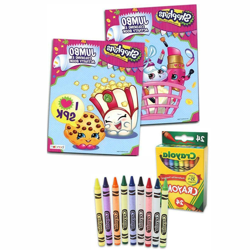 Shopkins Jumbo Coloring and Activity Book - 2 Pack