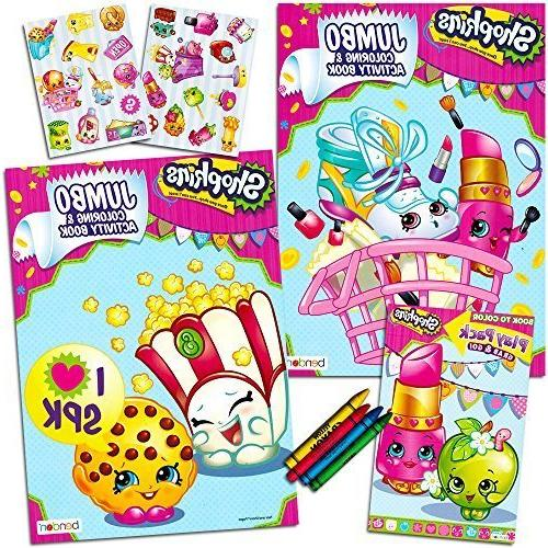 Shopkins Ultimate Coloring and Activity Book Set -- 2 Jumbo