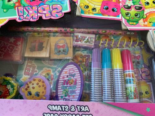 Shopkins Art & Set With Carry Stampers Stickers Ink