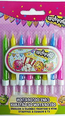 cake topper shopkins birthday candles set shopkins