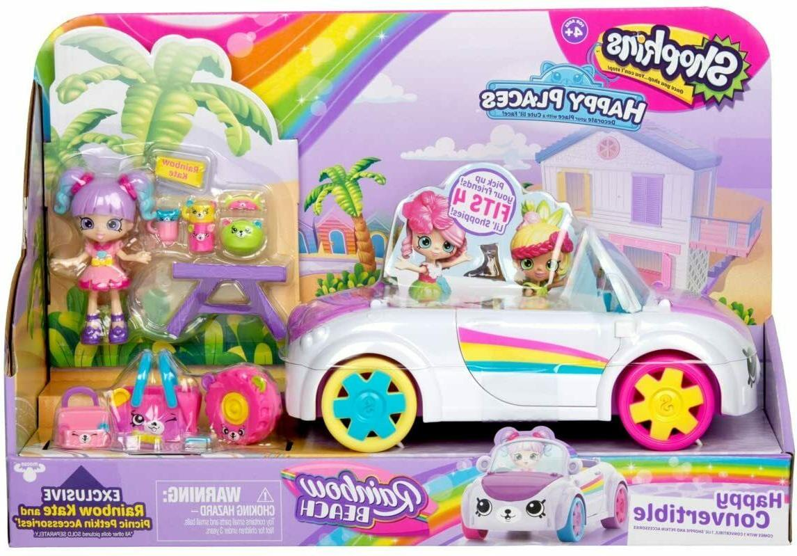 Shopkins Happy Places Rainbow Beach Convertible Playset New