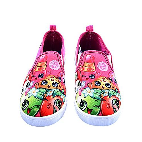 girls slip on canvas shoes size 2