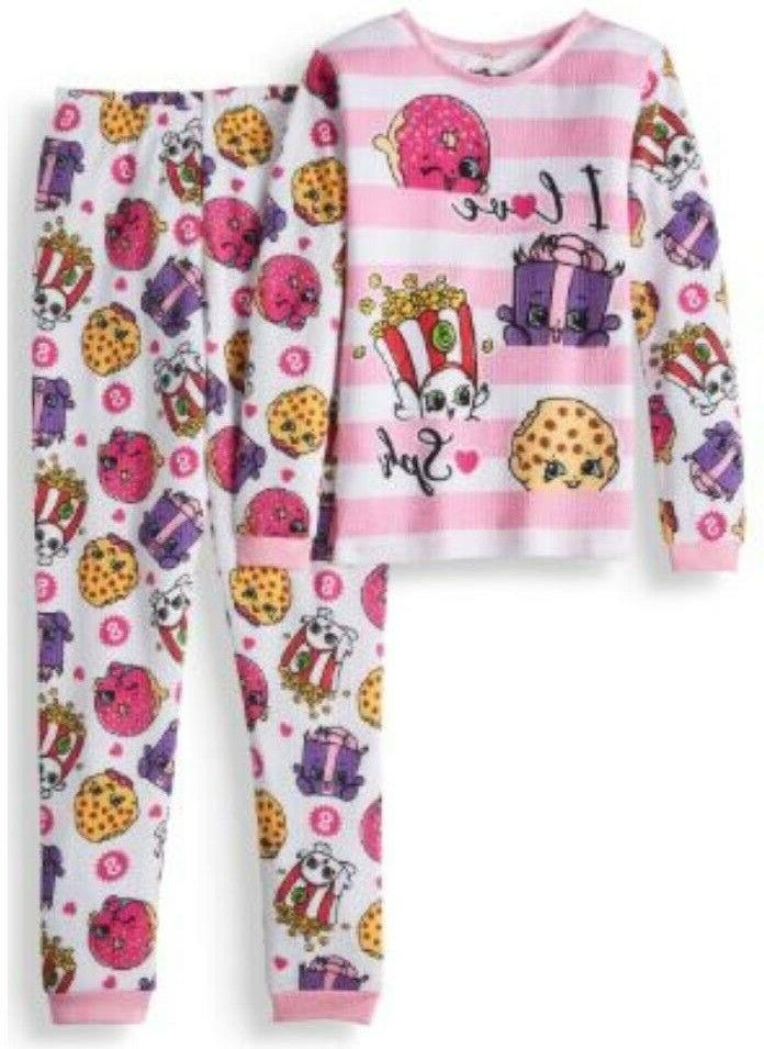 girls thermal 2 piece underwear set size