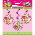 SHOPKINS HANGING DECORATIONS  ~ Birthday Party Supplies Foil