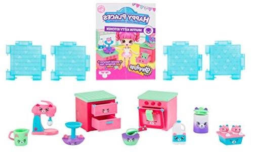 Shopkins Happy Places 3 Pack Muffin Kitty Kitchen