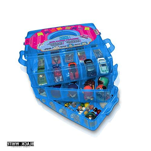 Holds - Toy Case Organizer Container Stackable Collectors - Compatible Toys Colleggtibles Tsum LoL