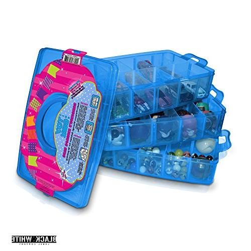 Holds 600 Toy Box Shopkins Case Container Stackable Collectors - Compatible W/ Toys Colleggtibles Tsum LoL Hot