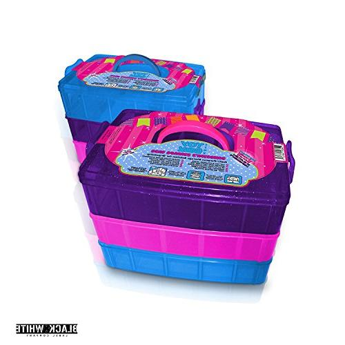 Holds - Tiny Toy Shopkins Storage Case Organizer Container - Stackable - Toys Colleggtibles LoL Hot