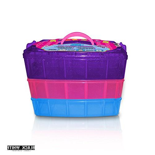 Holds - Tiny Toy Shopkins Case Organizer Container Stackable Collectors Carrying Tote - Toys LoL Hot