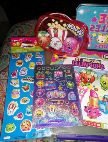 ~SHOPKINS Various Toy Items~Stickers Zip Trinkets Book