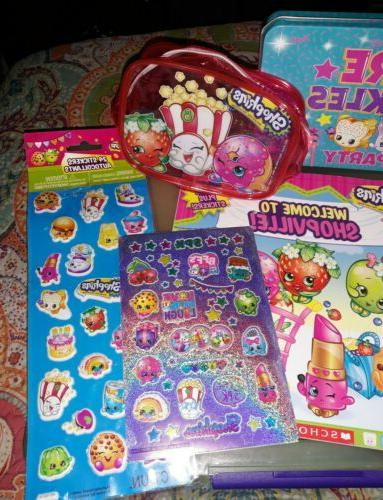 ~SHOPKINS Lot~Mixed Items~Stickers Book