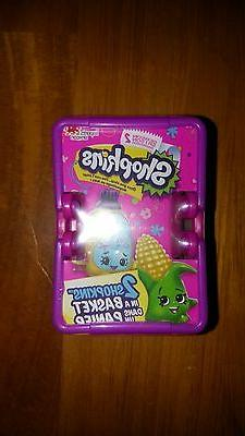 Lot of 5 Season 2 Shopkins Blind Sealed Shopping Baskets tot