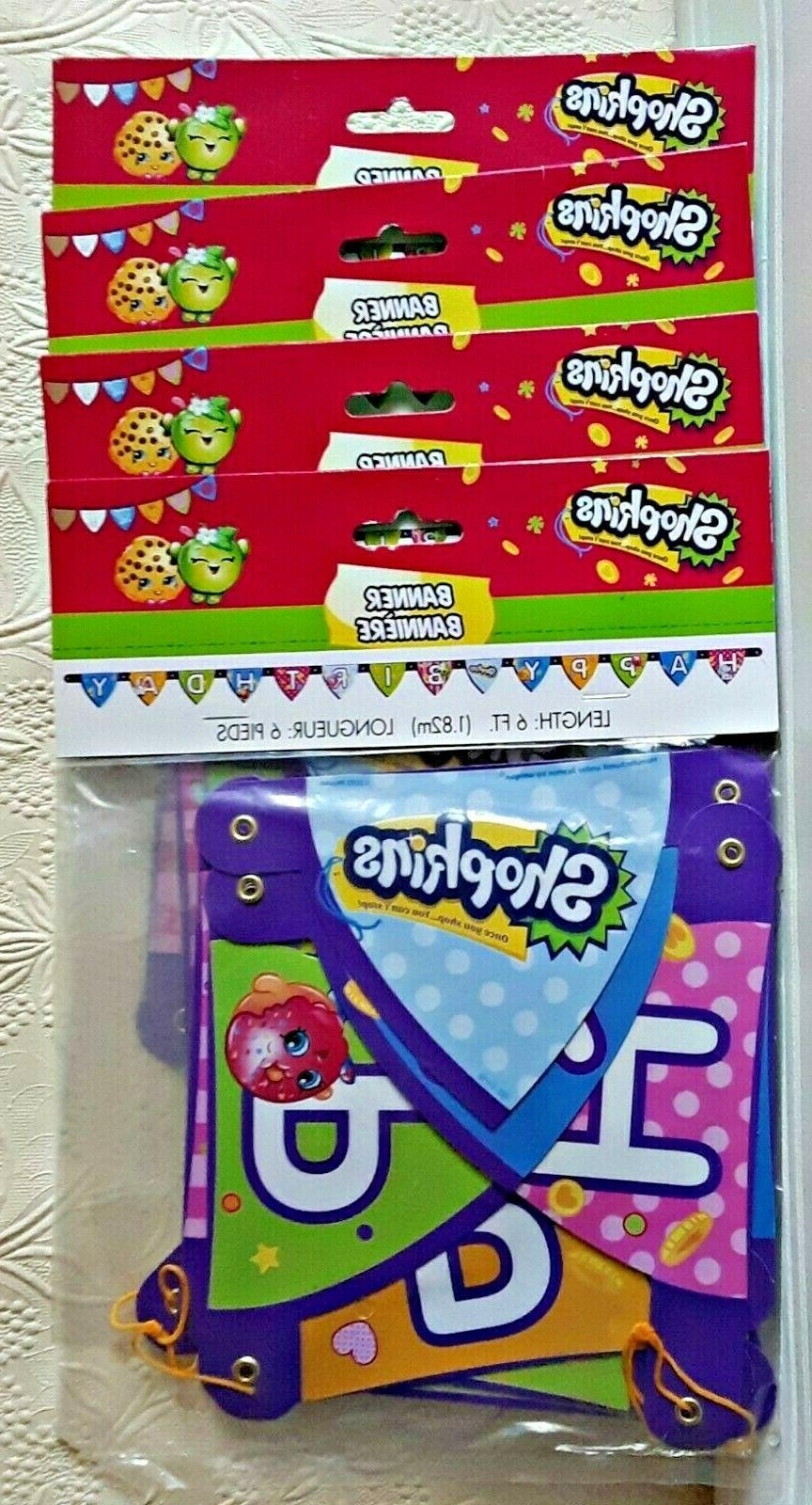 Shopkins Party Banners and 12 Party