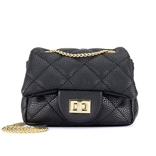 quilted embossed pu leather purse