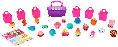 Shopkins Season 4 Mega Pack Bundle Shopkins, 1 Shopping Basket 1 Collectors Guide