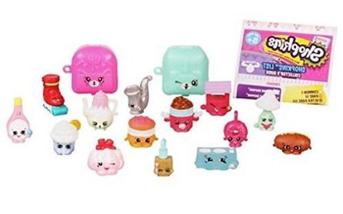Shopkins 12 Pack and 5 with Bracelet Petkins and Figures Vary Layback Ultimate Girls