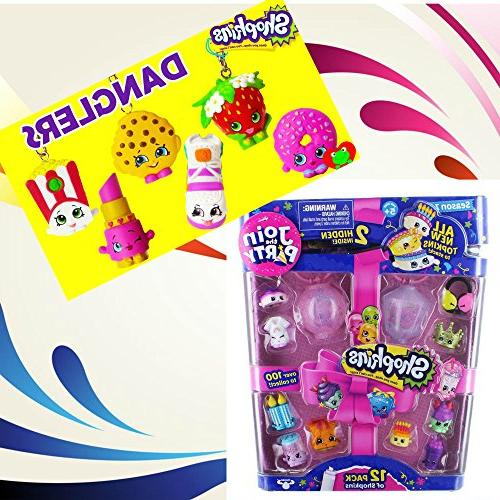 Shopkins the 12 & Combo Pack Package Inlcudes Shopkins 12-Pack & Shopkins Dangler