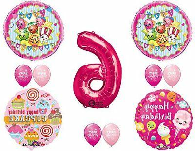 shopkins 6th birthday party balloons decorations supplies