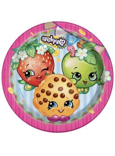 shopkins 9 lunch plates 8 count