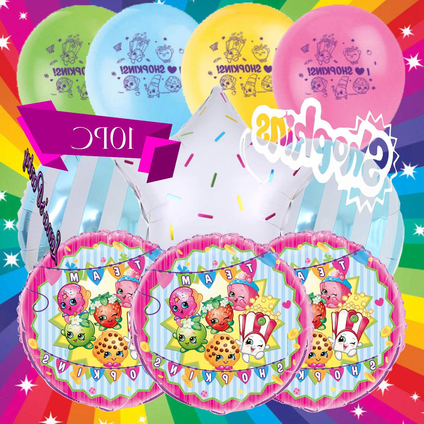 "SHOPKINS Birthday 12"" Latex Helium BALLOONS"