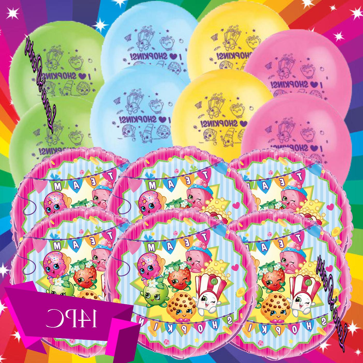 "SHOPKINS Birthday Party 12"" Latex Helium BALLOONS Decorations"