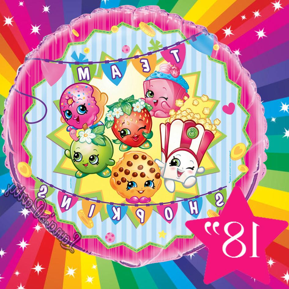 "SHOPKINS Birthday Party 12"" FOIL"