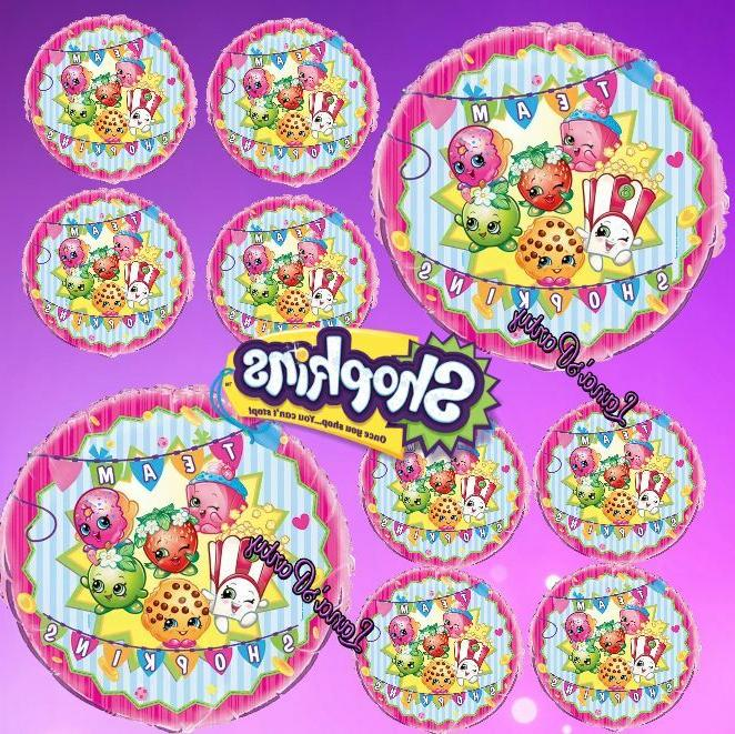 shopkins birthday party supplies 12 foil latex