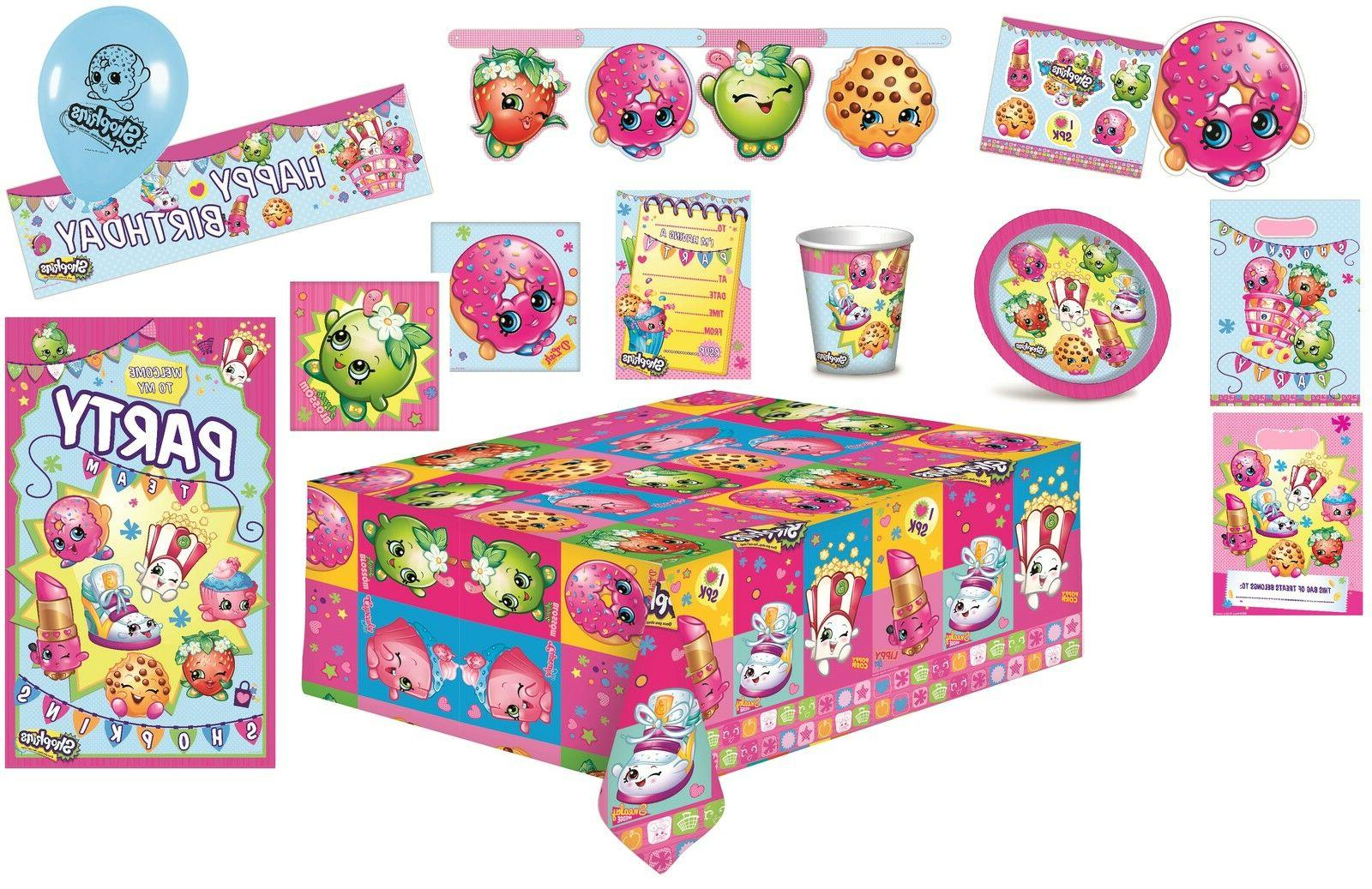 shopkins birthday party supplies napkins plates cups