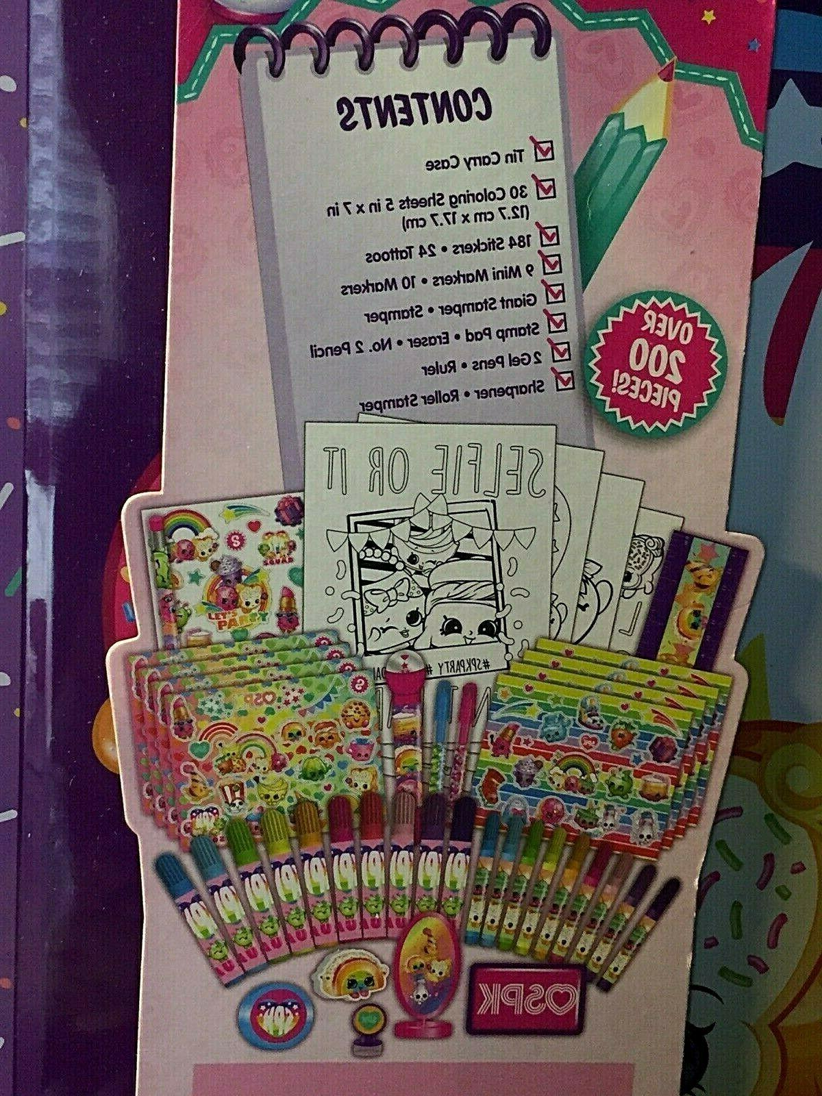 Shopkins Deluxe Stationary with for storage