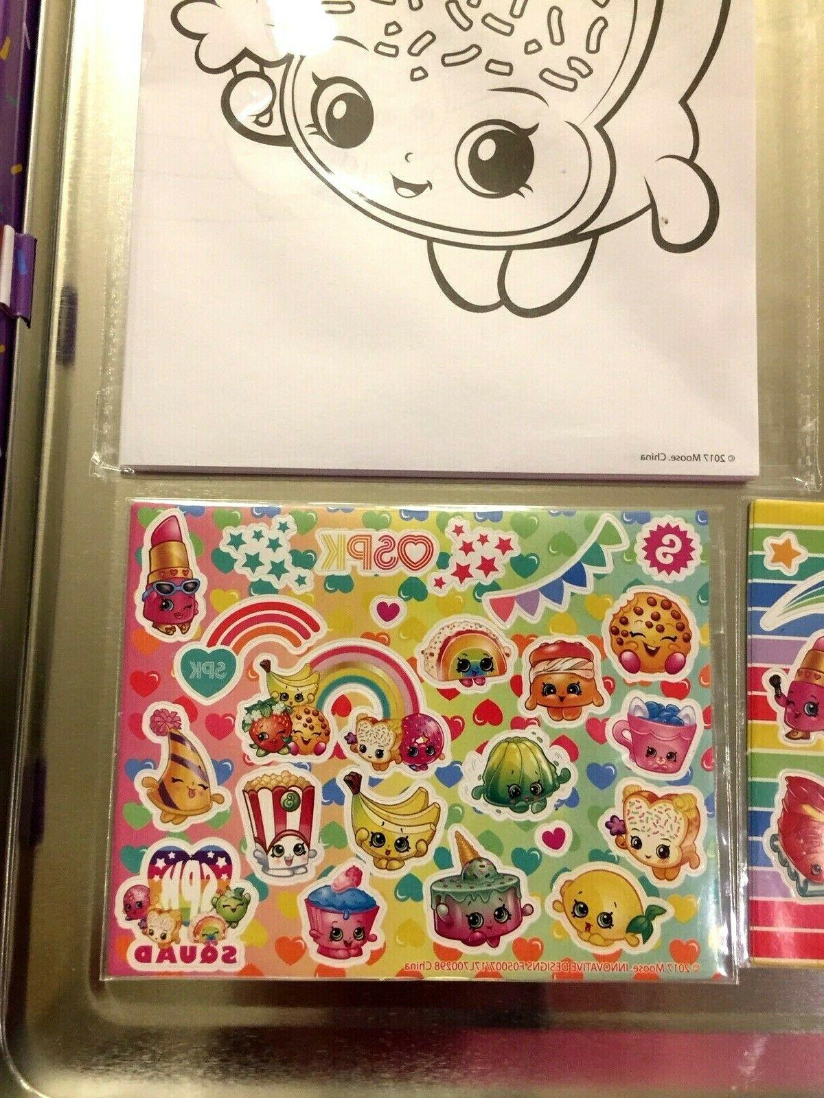 Shopkins Stationary with Tin for storage
