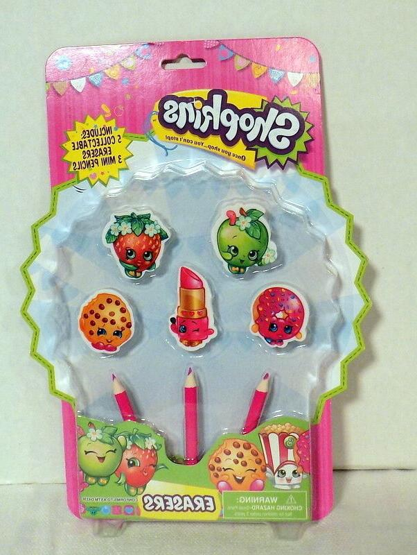 shopkins erasers includes 5 collectable erasers
