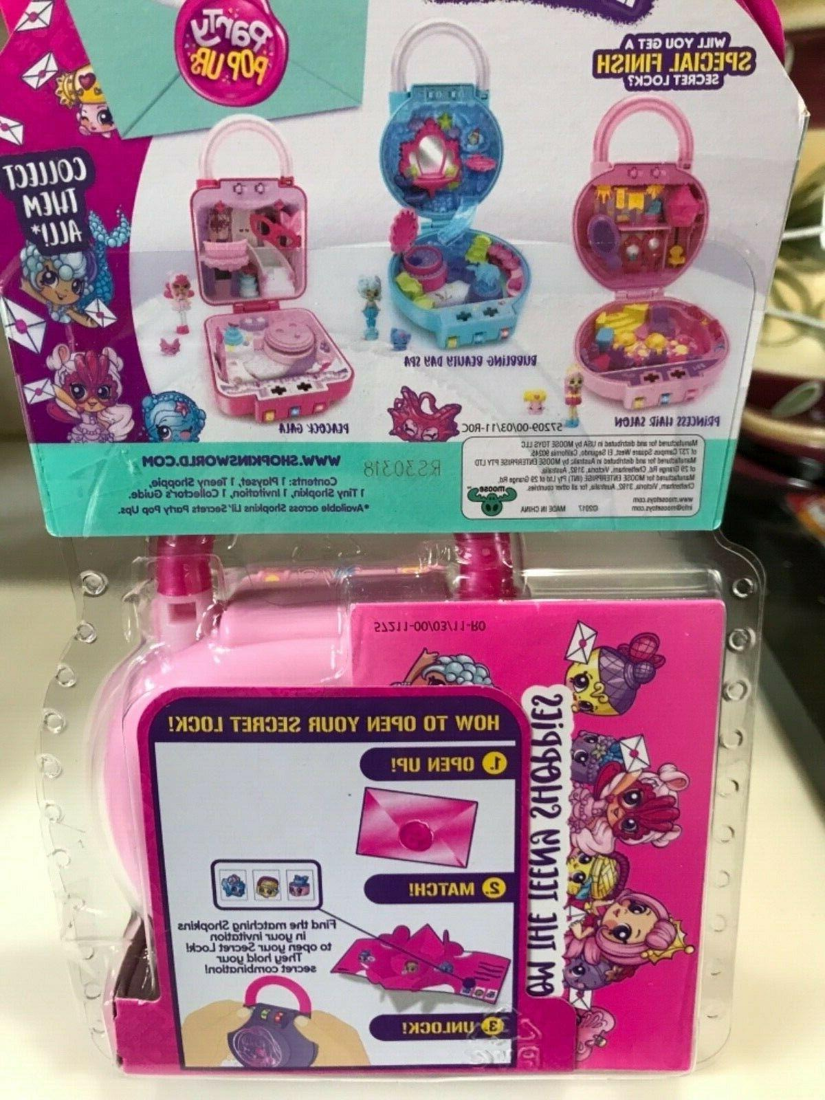 Shopkins Lil' Party Pop Ups Secret Lock Playset Princess Salon
