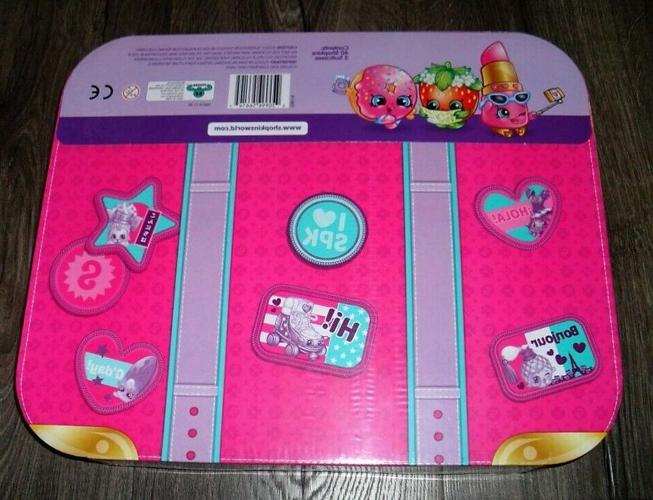 SHOPKINS LUGGAGE EXCLUSIVE MYSTERY SHOPKINS SUITCASES BOX
