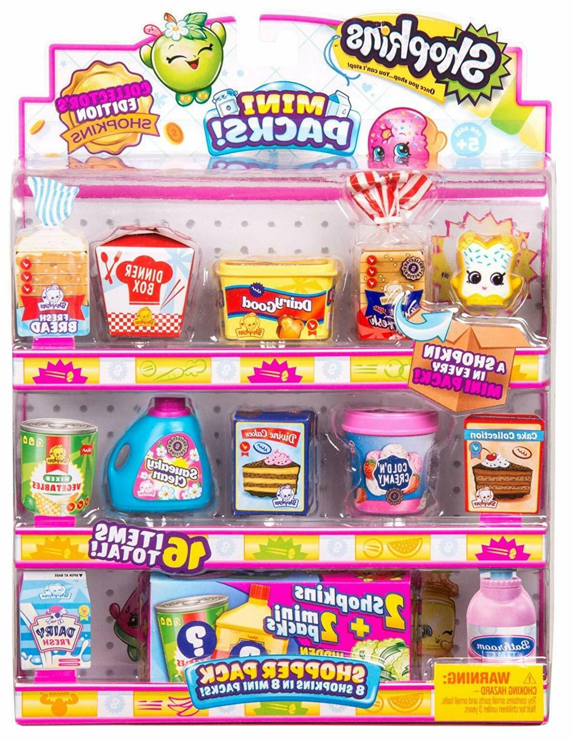 Shopkins Shopper Pack 8 Mini Grocery Barbie Sized Food Packa