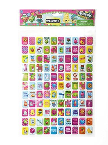 Shopkins Pack 1200 Stickers 1 Pack of Puffy 2 Items