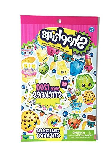 Shopkins Stickers Pack of Stickers and of Puffy 2 Items
