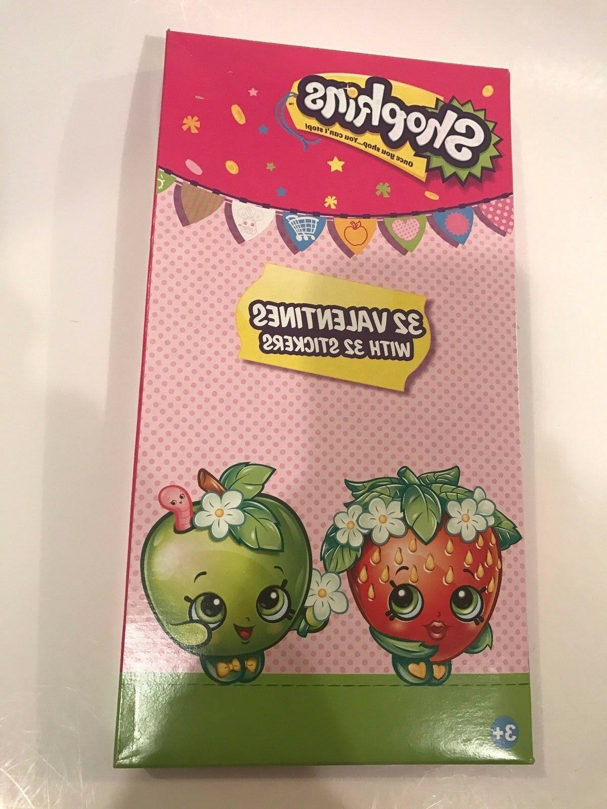 shopkins valentines day cards box of 32