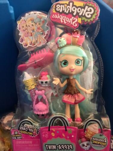shoppies dolls peppa mint with 2 exclusive